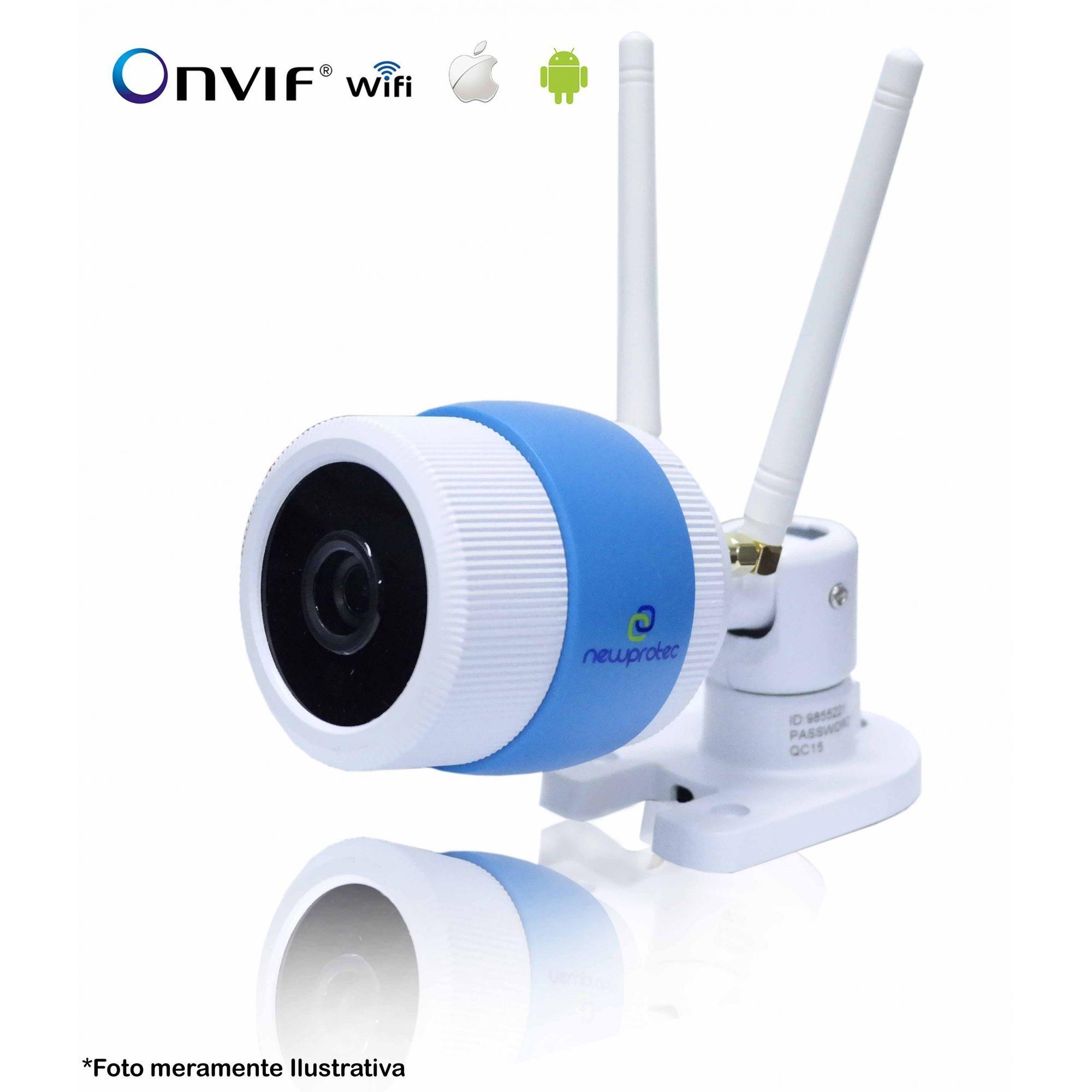 8ce6cc4f8 Câmera de Segurança IP Onvif Bullet Sem Fio Wifi Full HD 1080p ...