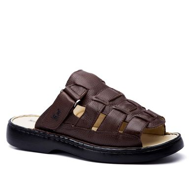 2aae605cd Chinelo Masculino 323 em Couro Floater Café D..