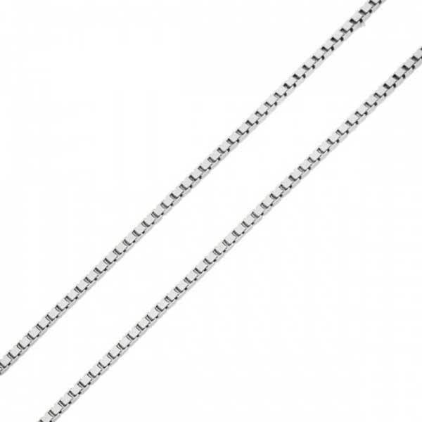 b70e7a9c5e846 Corrente em Ouro Branco 18K Veneziana de 0