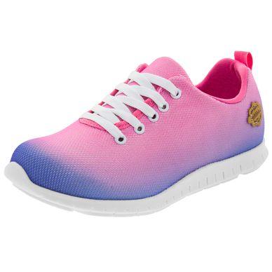 fd62fe595dd Tênis Infantil Feminino Multi Pink Molekinha .
