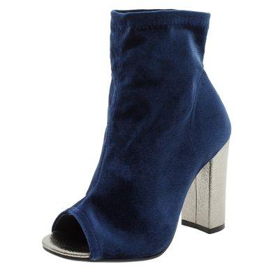 c41e265e30 Bota Feminina Ankle Boot Marinho Via Marte - .