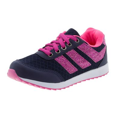ac735d0d286 Tênis Infantil Feminino Marinho Pink Botinho .