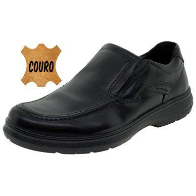 bfb9b3089ec Sapato Masculino Social Preto Pegada - 125006