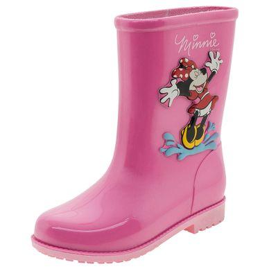 23dd1c8835 Bota Infantil Feminina Minnie Fashion Rosa Gr..