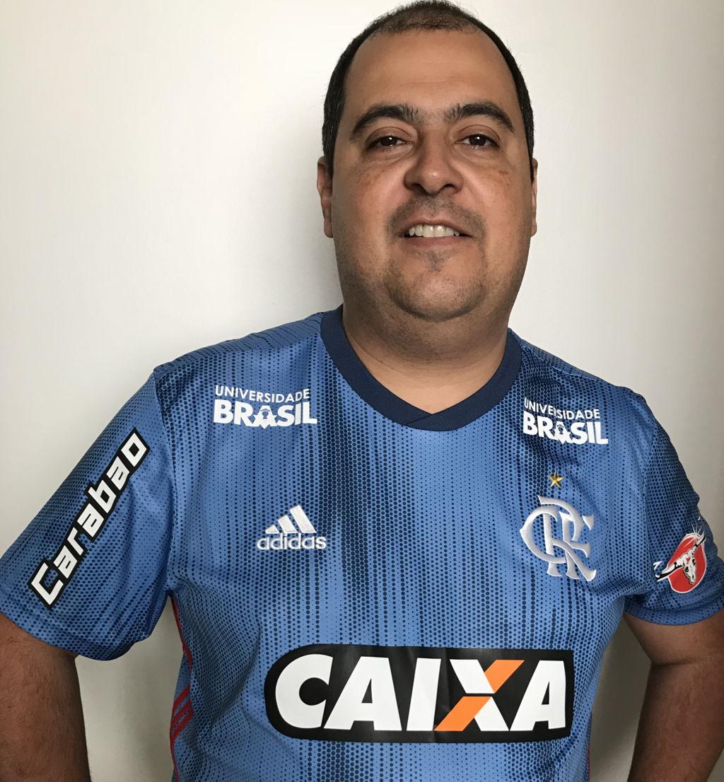 ... goleiro  Camisa Flamengo Jogo 3 Adidas 2018 - Com Patrocínios (Carabao 156a61b8d4d52