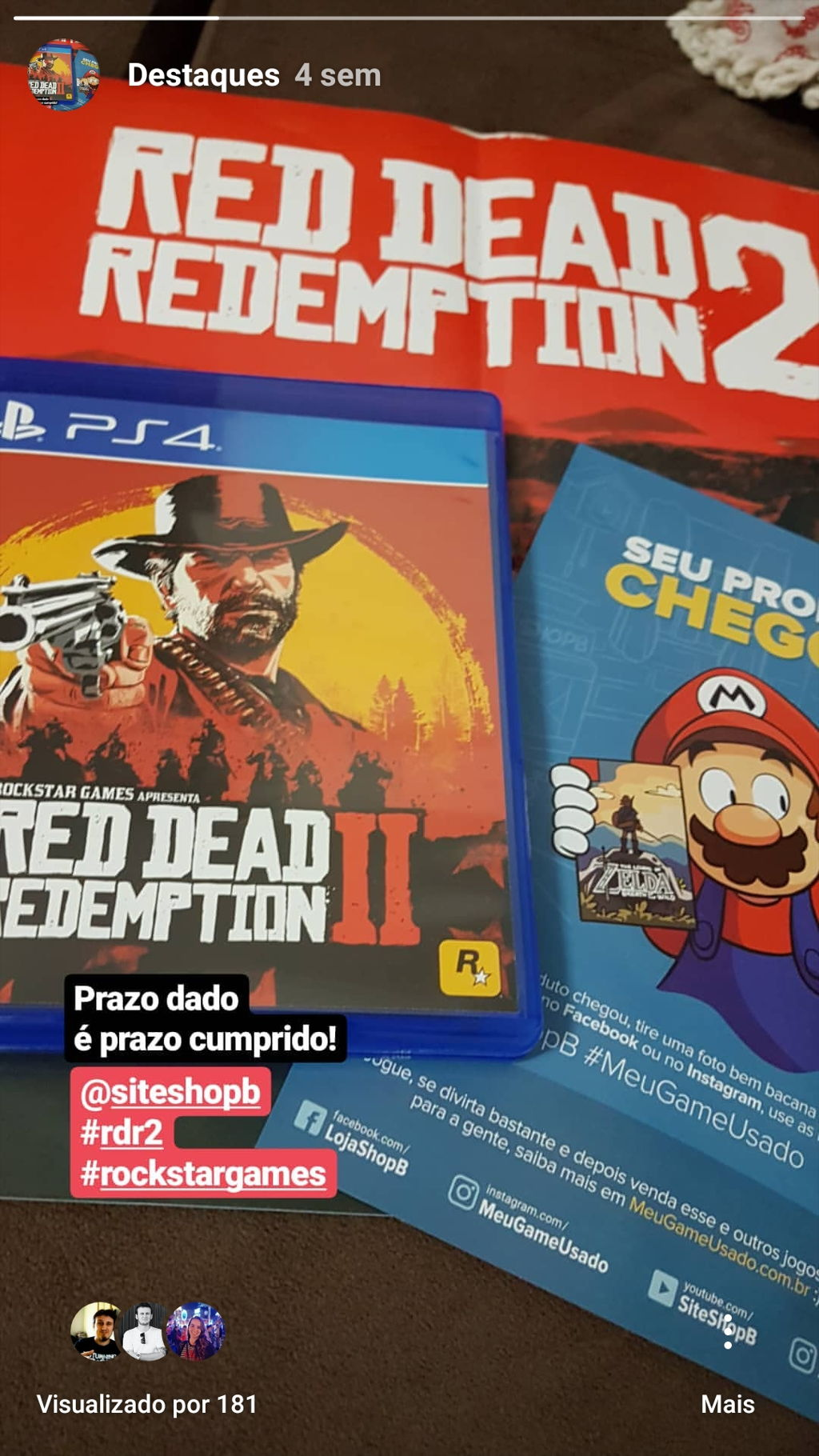 Red Dead Redemption 2 - PS4 - ShopB - 10 anos!