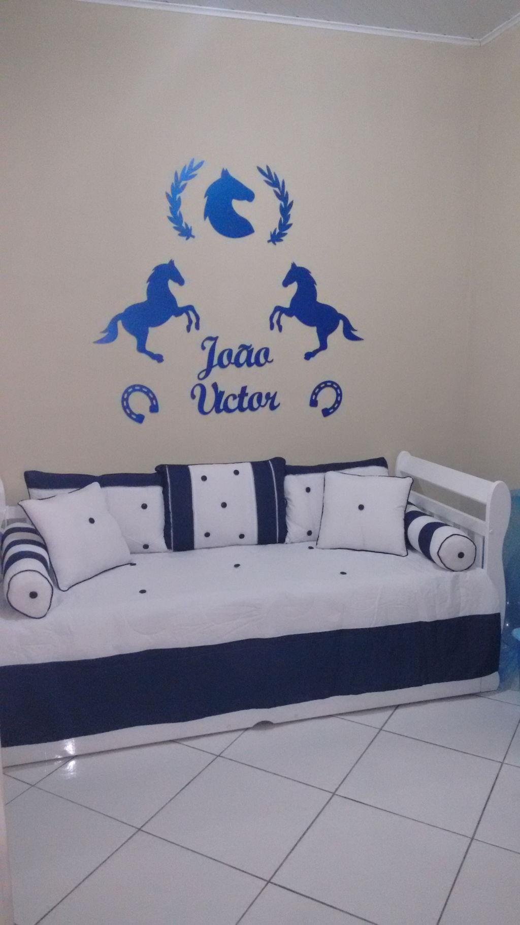94e14bc06 Kit Painel de Parede Completo Cavalos Country MDF CRU - Rosa Baby ...