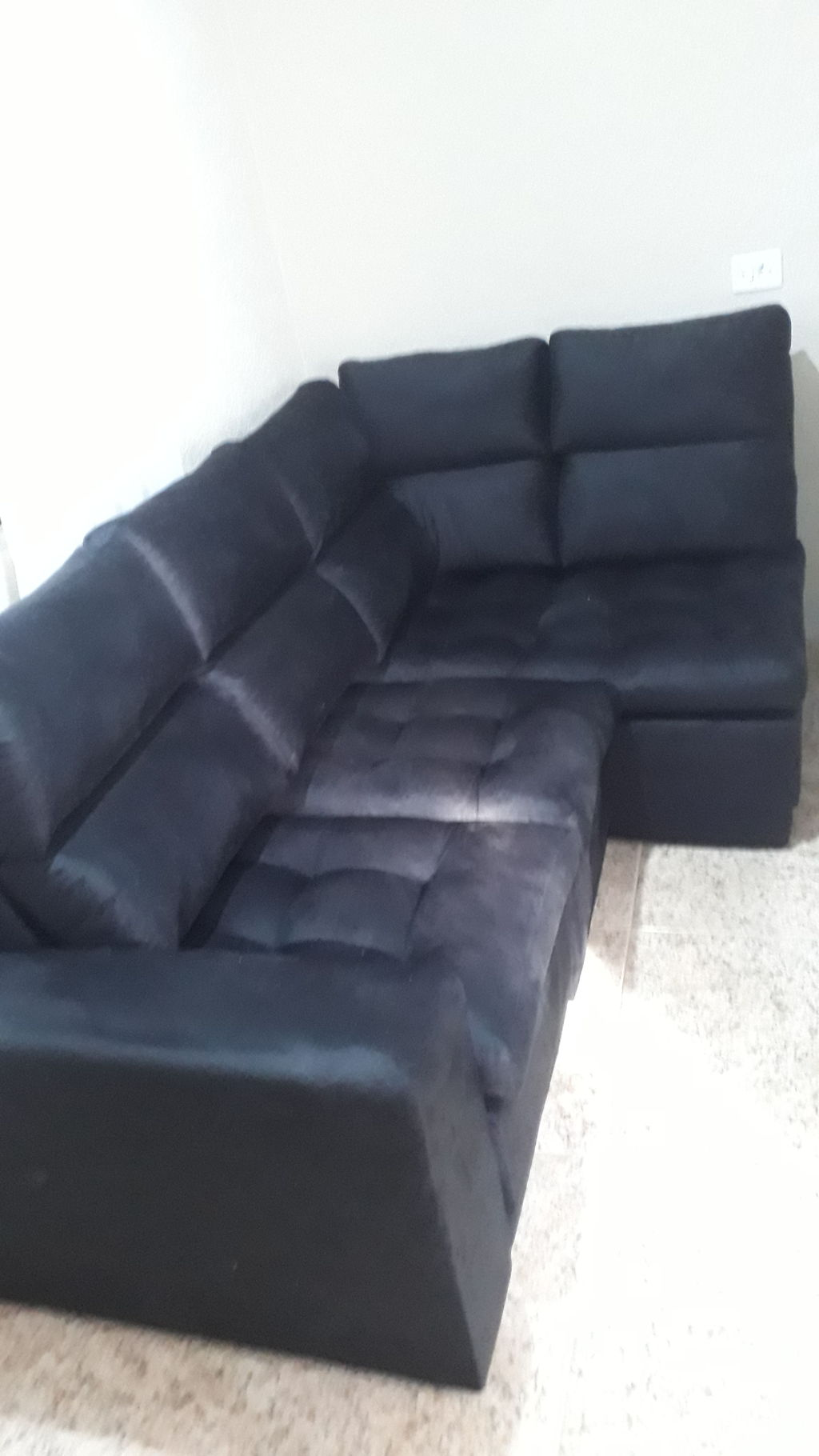 Astonishing Sofa 4 Lugares Canto Com Chaise Retratil Miro Velosuede 2 Pdpeps Interior Chair Design Pdpepsorg
