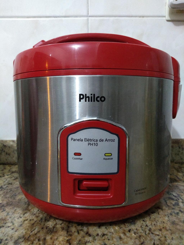 db80cde55 Panela Elétrica de Arroz Philco PH10 Visor Glass – Vermelho ...