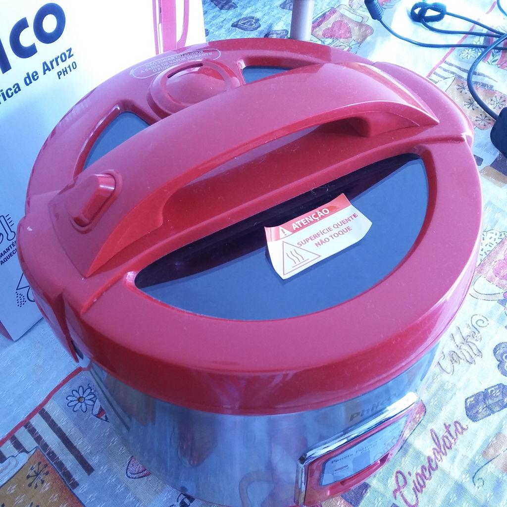 38bcefd11 Panela de Arroz PH10 Visor Glass Vermelho Philco - Havan Mobile